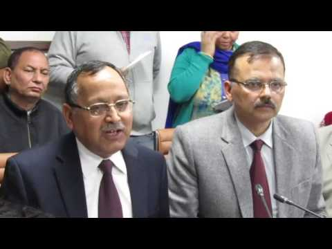 V. K Singh CEO and V.K Bhawra ADGP addressing the media