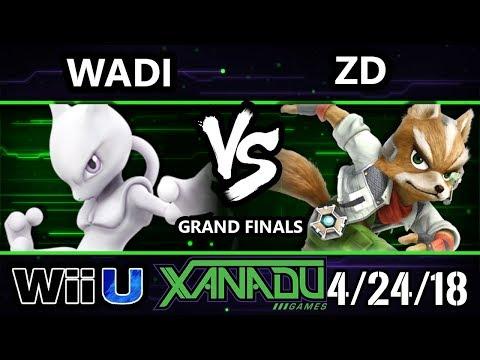 S@X 247 Smash 4 - WaDi (Mewtwo, Rob) Vs. ZD (Fox) - Wii U Grand Finals