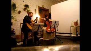 Diego Luzuriaga - Quito Religioso, Cello Guitar Duet Duo Vitare (live)