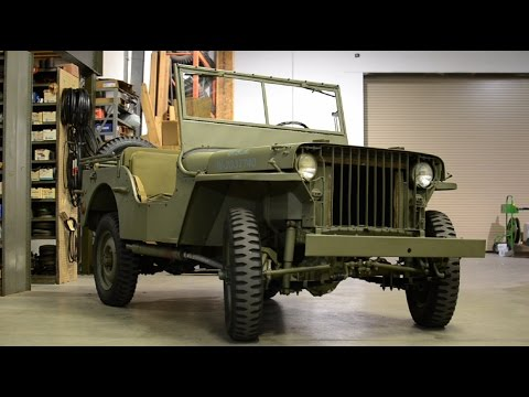 the original willys jeep 1941 slat grille youtube. Black Bedroom Furniture Sets. Home Design Ideas
