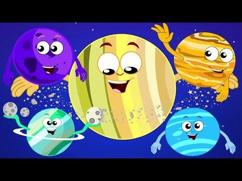 canción de los planetas   sistema solar rimas   educativa canción   Planets Song   Kids Songs