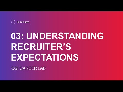 Understanding recruiter's expectations