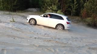 Audi Q5 off road. In sand