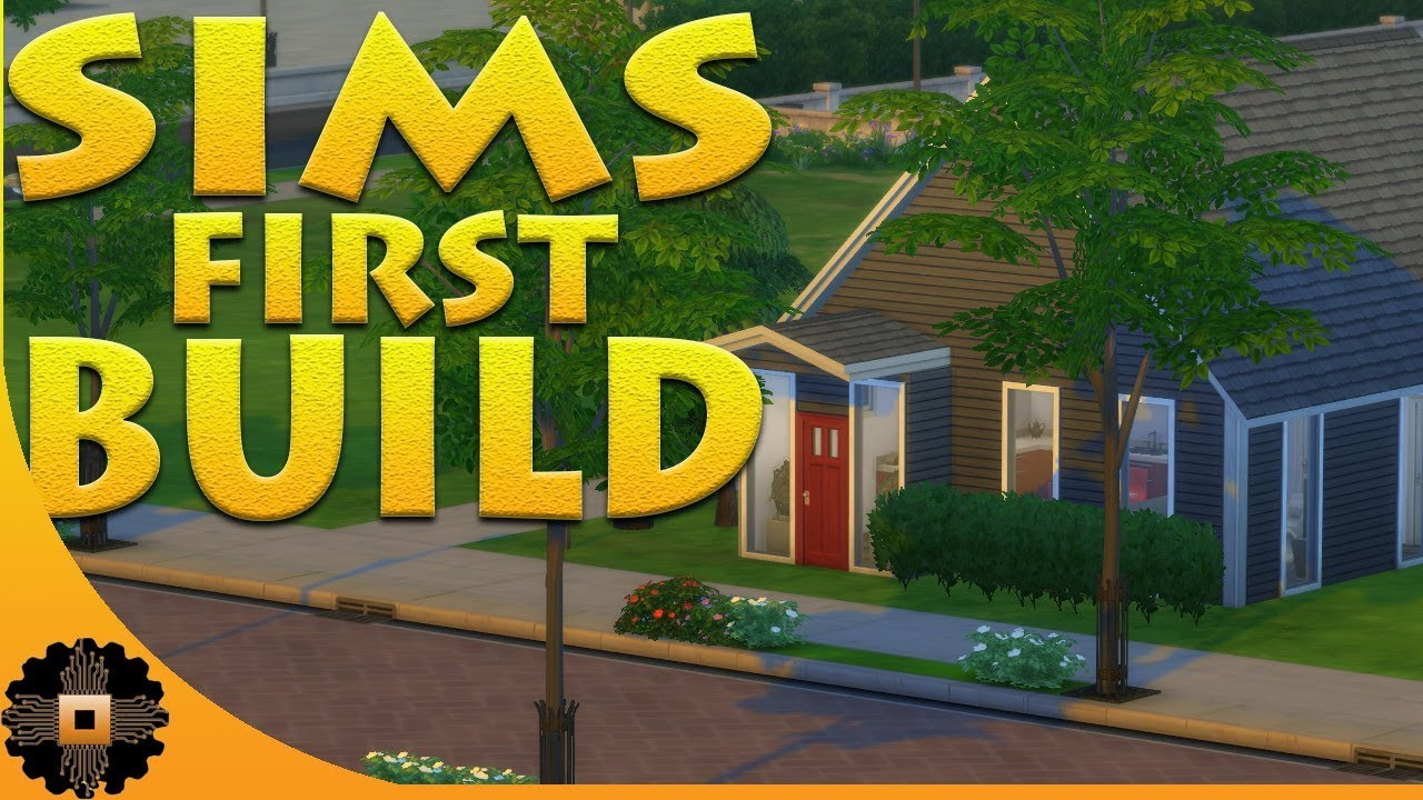 SIMS 4 FIRST BUILD! SIMS STARTER HOME! Ep.1