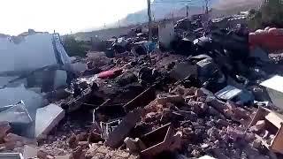 فيديو.. مواطن من قرية منكوبة يلعن نظام إيران والحرس الثوري