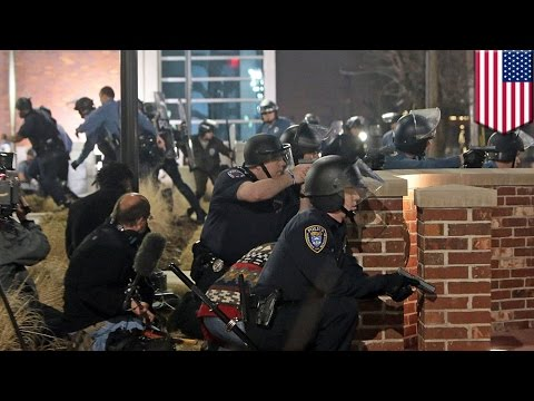 Ferguson protests: 2 police officers shot in front of Ferguson Police Department