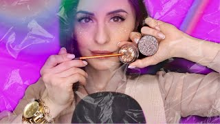 АСМР Блестящий МАКИЯЖ ГЛИТЕРАМИ ASMR makeup glitter