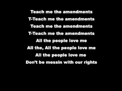 """Teach Me The Amendments"" - The Bill Of Rights"