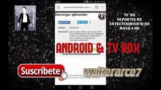 walterarce7tv la mejor aplicacion para ver TV en vivo y mucho mas para android y tv box !!