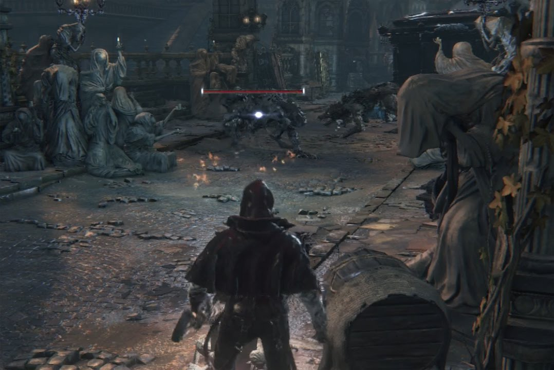 Bloodborne Defeat the 2 Large Wolves Blocking the Way to the First ...