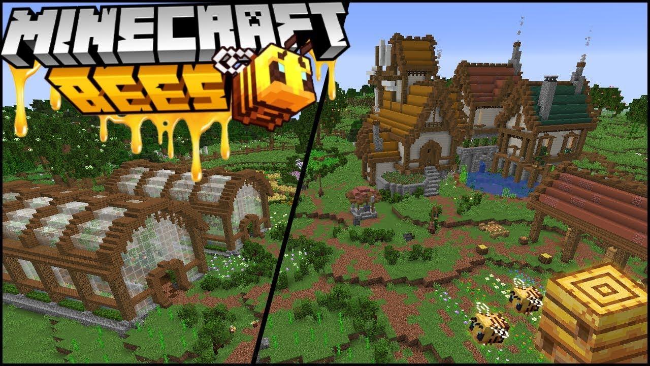 Building a Minecraft 1 15 Bee Sanctuary Farm YouTube