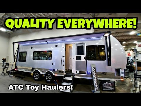 Radically Different Toy Hauler! ATC Aluminum Toy Hauler RV!