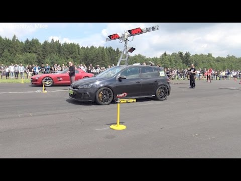 800HP VW Golf 6 R 3.6 HGP Biturbo | DRAG RACING