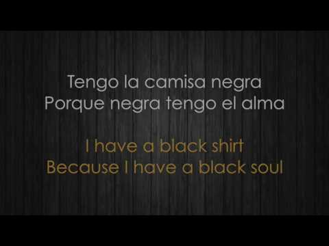 Juanes - La camisa negra/The Black Shirt (Letra española e inglesa/Spanish & English Lyrics)