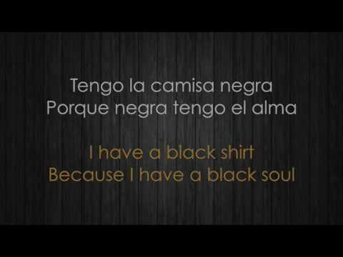 Juanes – La camisa negra/The Black Shirt (Letra española e inglesa/Spanish & English Lyrics)
