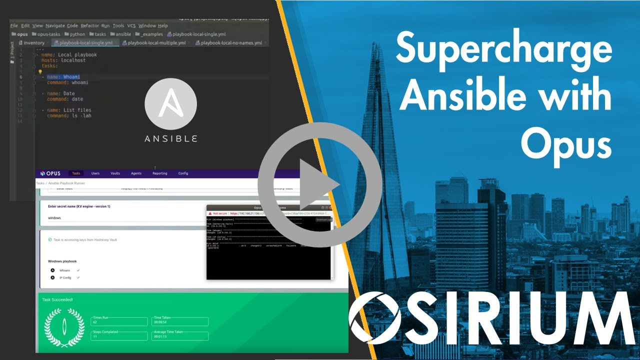 Automating Ansible using Osirium Opus