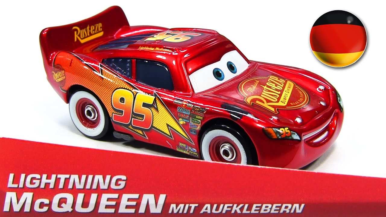 German Promo Lightning McQueen with Stickers (mit ...