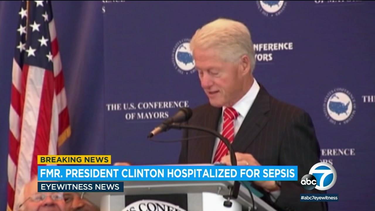 Bill Clinton hospitalized in California, spokesperson says