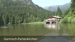 Places to see in ( garmisch partenkirchen - germany )south of garmisch-partenkirchen on the austrian border lies germany's highest mountain, zugspitze, risi...