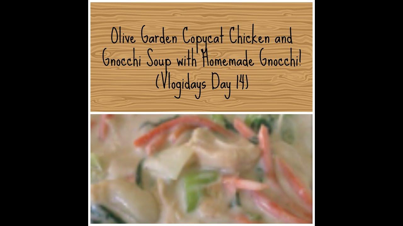 Olive Garden Copycat Chicken Gnocchi Soup w/ Homemade Gnocchi ...