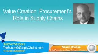 Value Creation: Procurement's Role in Supply Chains