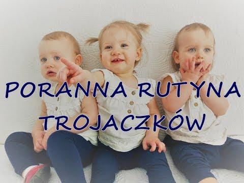 Poranna rutyna trojaczków | Morning routine of triplets 🌞