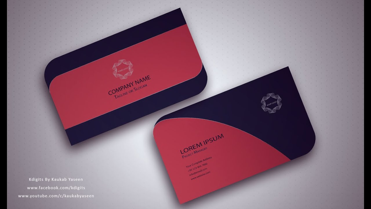 Illustrator Tutorial Business Card Design 03 You