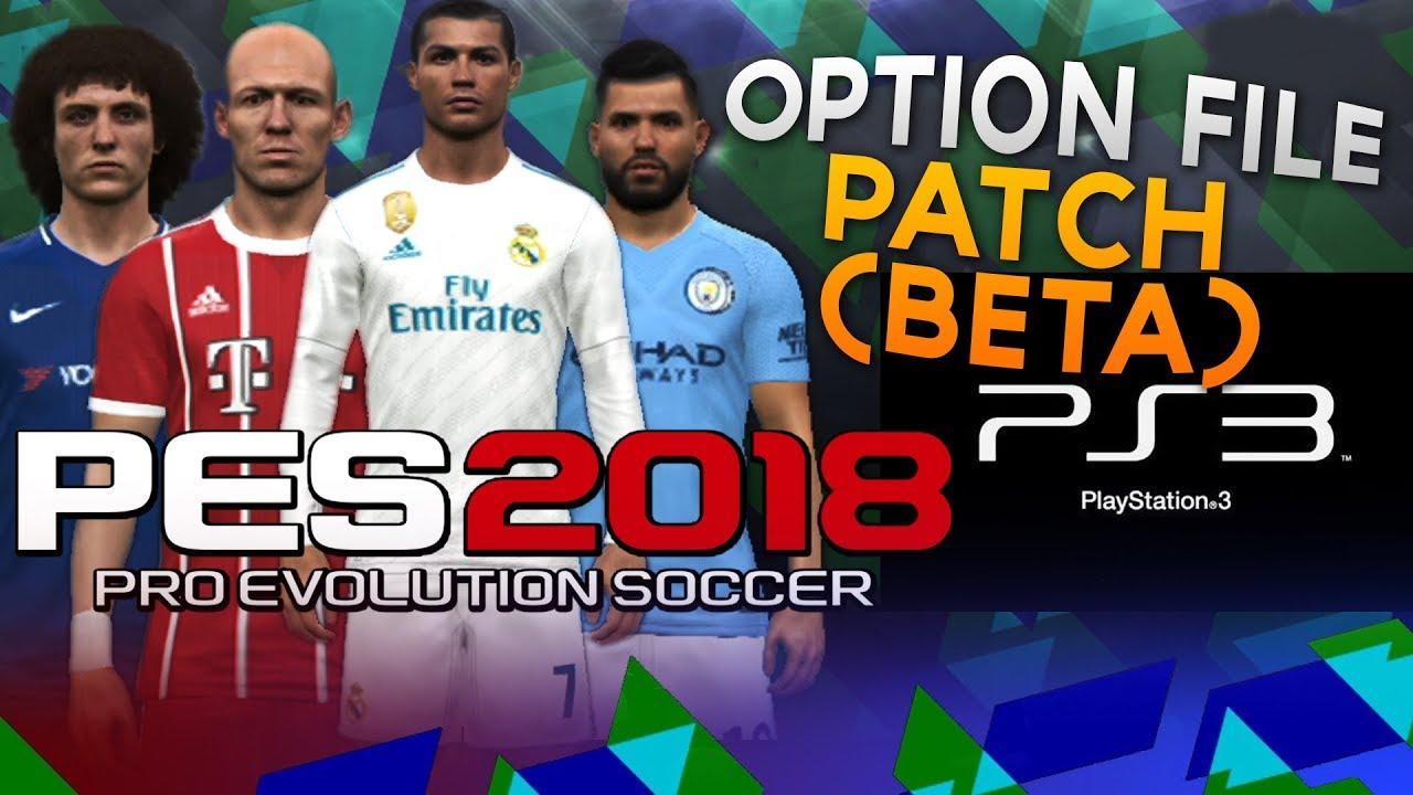 PES 2018 PS3 Complete Option File Patch BLUS BLES