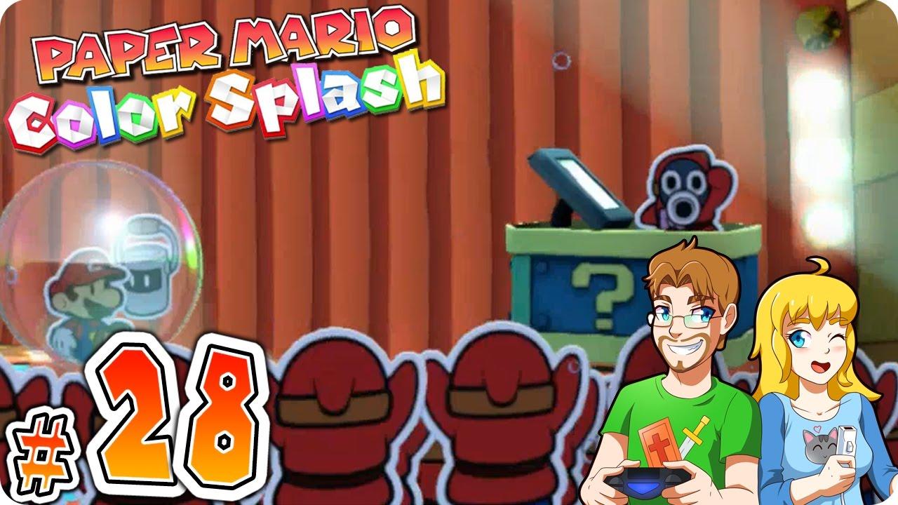 Paper Mario Color Splash Gameplay Walkthrough Part 28 Cobalt Base ...
