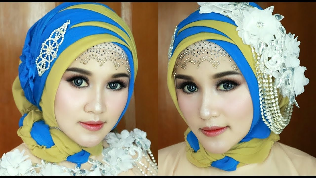 TUTORIAL HIJAB OTHER FOUR FASHION SHOWS, HOLIDAYS, OR OTHER PARTY  EVENTS,GLAMOR,LUXURY&ELEGANT