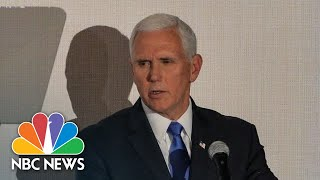 Pence On U.S. Support For Venezuelan Opposition Leader: 'We Are With You 100 Percent' | NBC News
