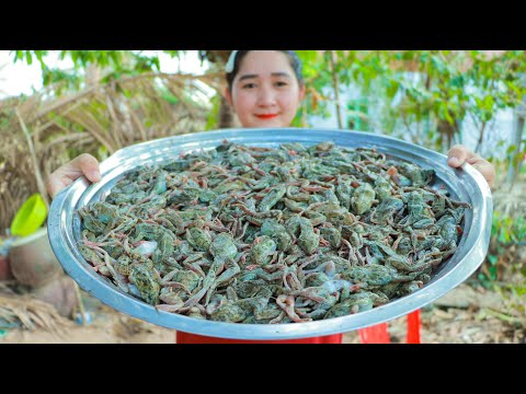 Yummy Crispy Cooking Tiny Frog Recipe – Cooking With Sros
