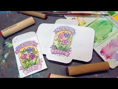 DIY Seed Envelope Stamping // ATC & Pocket Letters