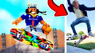 Roblox Skateboarding vs Me Skateboarding In REAL LIFE...