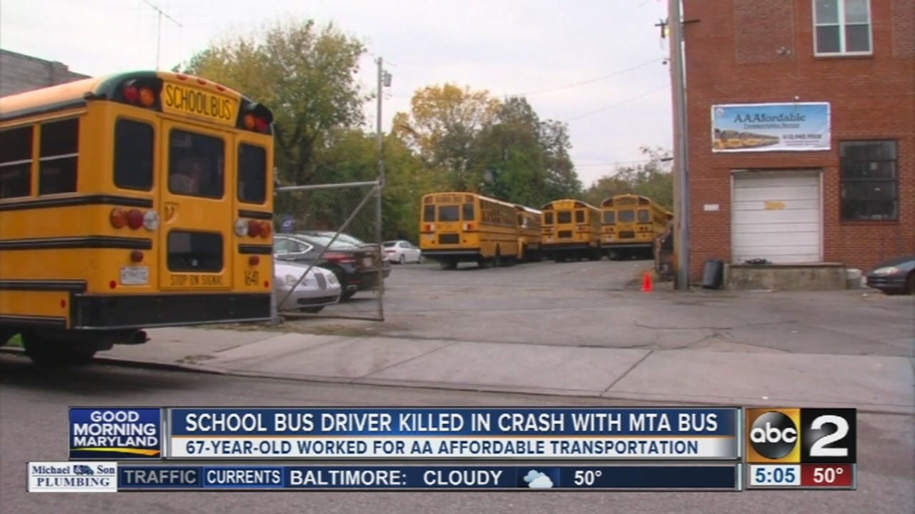 Locals remember school bus driver killed in deadly SW Baltimore crash