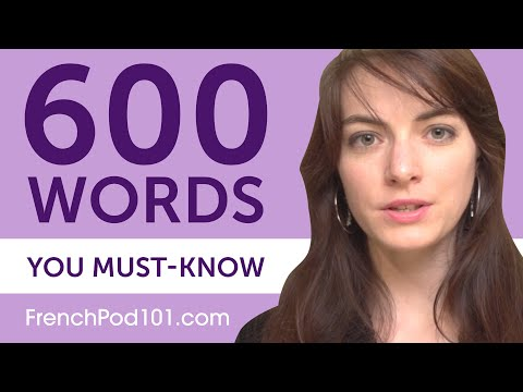 600 Words Every French Beginner Must Know