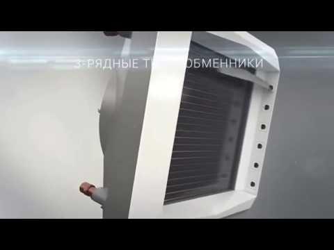 Тепловентелятор с водяным теплообменником