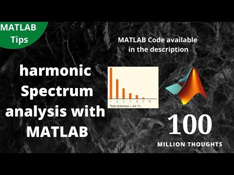 Spectrum estimation and harmonic analysis with MATLAB