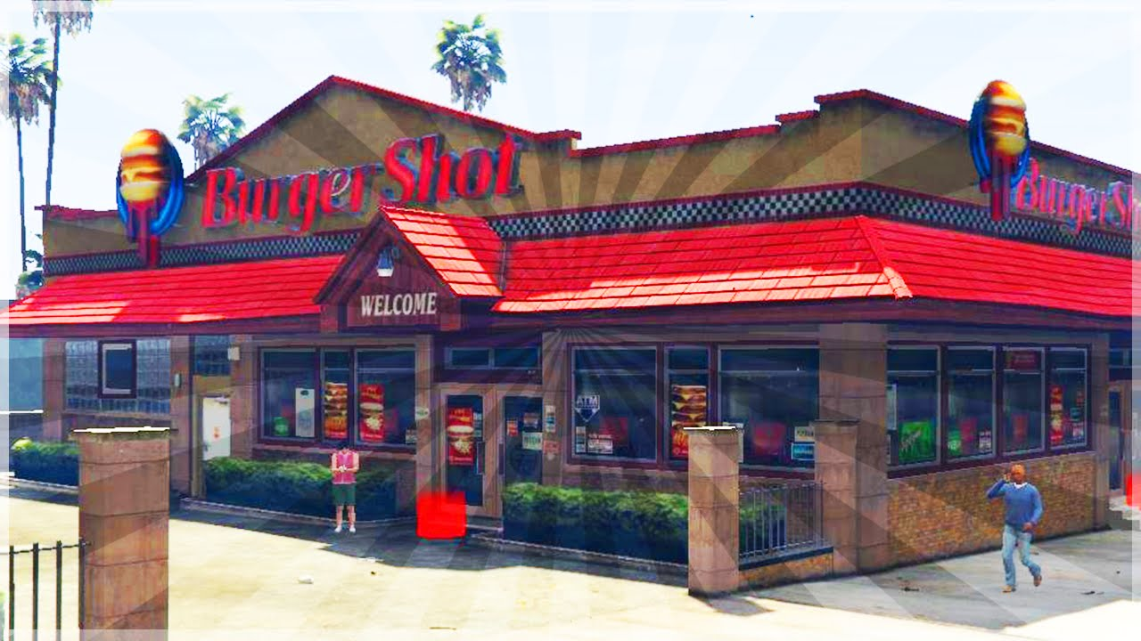 L int rieur du fast food de gta 5 int rieur burger shot for Salon du fast food