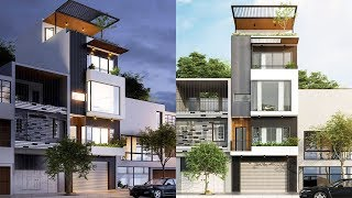 Narrow Lot House Plans 5x9.5m With 4 Bedrooms