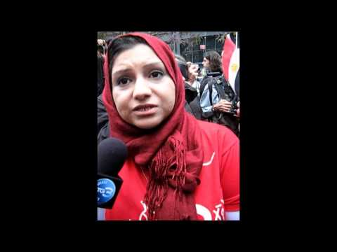 Asmaa Mahfouz Stands With Women at Occupy Wall Street