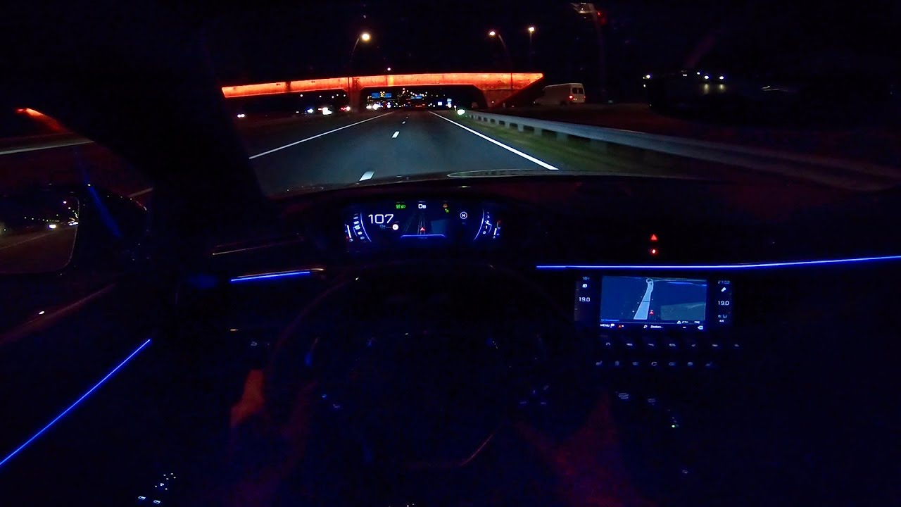 Peugeot 508 Gt 2019 Night Drive Pov Ambient Lighting By