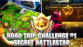SECRET BATTLESTAR LOCATION! Week 1 Road Trip Challenges (Fortnite Season 5)