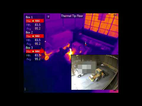 Tipping Floor Lithium Ion Battery Explosion