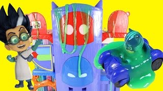 PJ MASKS HEADQUARTERS PLAYSET HQ Slimed by Romeo, Catboy, Steals Trolls Movie Toys