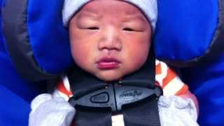 Newborn baby boy is going home from the hospital