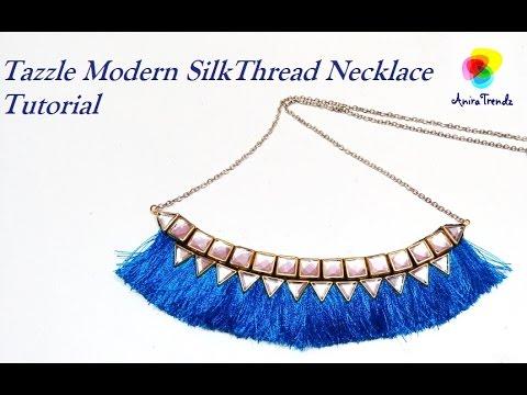 How to do silk thread tassle necklace - Tutorial easy DIY