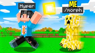 I MORPHED Into MOBS To Troll My Minecraft Friends!