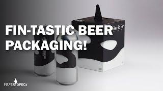 PaperSpecs.com | Paper Inspiration #417 – Killer Whale Pod Pack Beer Labels & Packaging