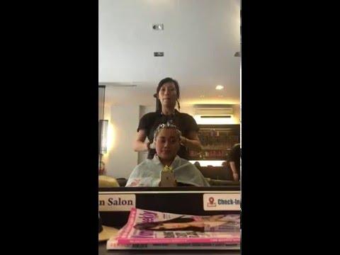 Malaysian wash hair style